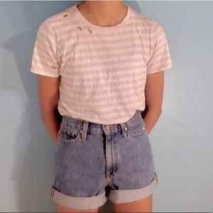 Tops - Pink and White Striped Shirt from PacSun